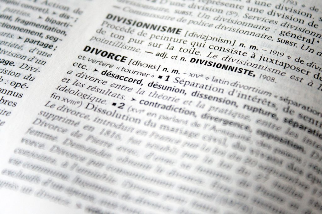 Divorce par le principe de la désunion